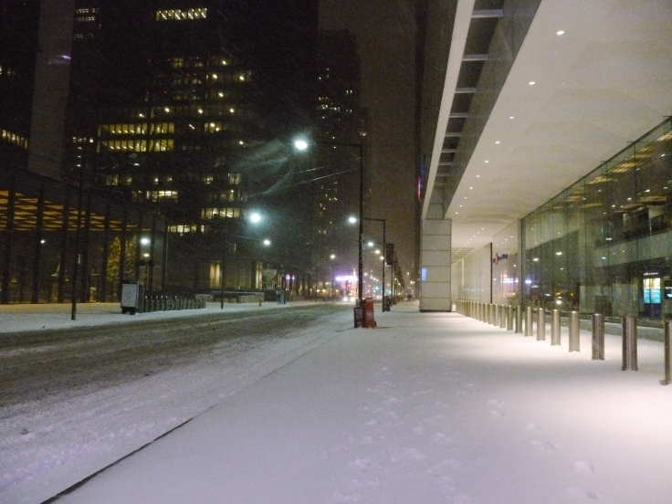 King Street est l'une des rues les plus fréquentées de Toronto... habituellement.