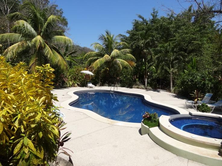 Une piscine et un jacuzzi étaient à disposition, mais les pompes de la piscine ne fonctionnaient pas et le jacuzzi était en panne