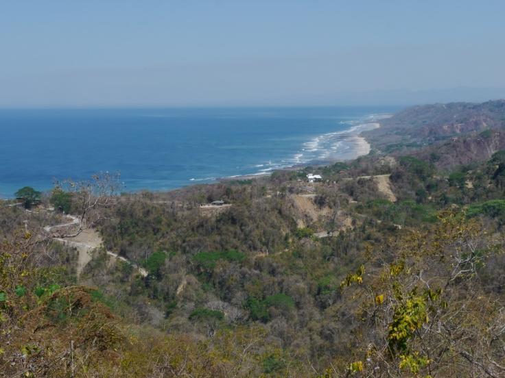 L'océan, les vagues, la plage, les collines... Et les pistes menant à des maisons perdues en plein milieu de la végétation