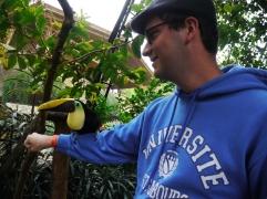 Chacun a eu droit à sa photo avec un toucan / Everyone got his picture with a toucan/