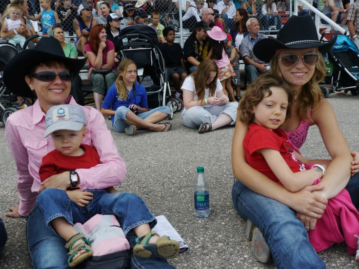 On vient surtout au stampede en famille / People go to the stampede with their family