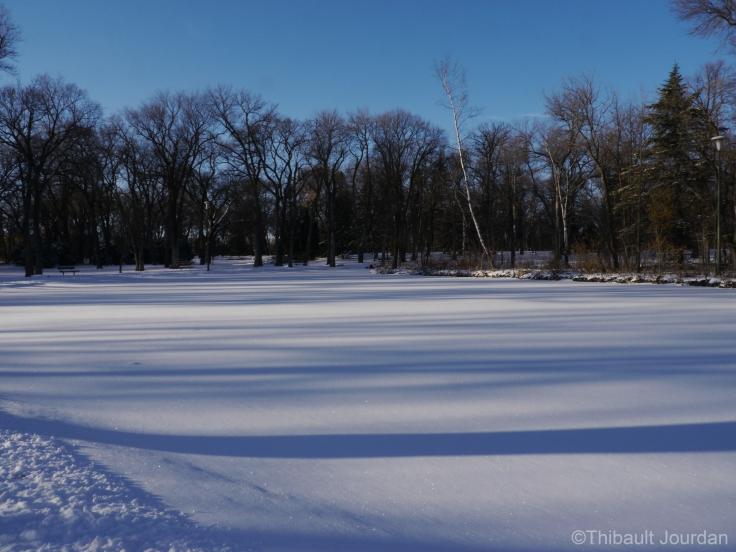 La première neige est tombée en novembre. Depuis, elle n'a jamais disparu!
