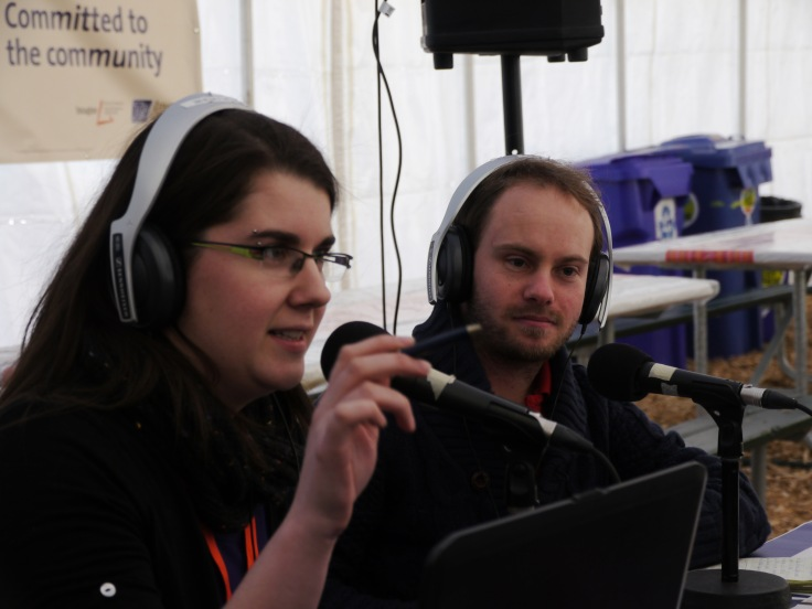 Marie-Christine Bruce, ma collègue, a animé 5h d'émission en direct depuis le festival