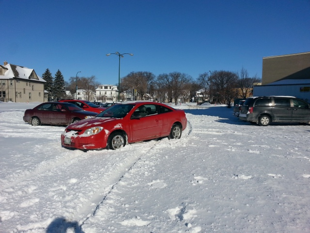 Au travail, je me gare comme je veux. Ou peux. / At work, I park my car like I want. Or like I can.