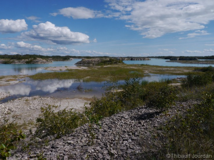 L'ancienne carrière Lafarge de Steep Rock / Lafarge quarry, Steep Rock, Manitoba