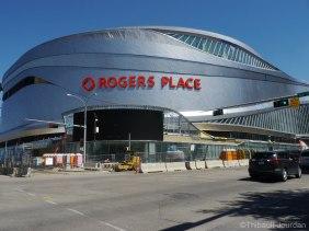 Le Rogers Place, nouveau temple des Oilers, était sur le point d'ouvrir ses portes quelques jours après notre passage.