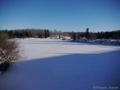pinawa vieux barrage old dam manitoba hiver winter