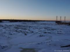 seven sisters dam barrage manitoba hiver winter
